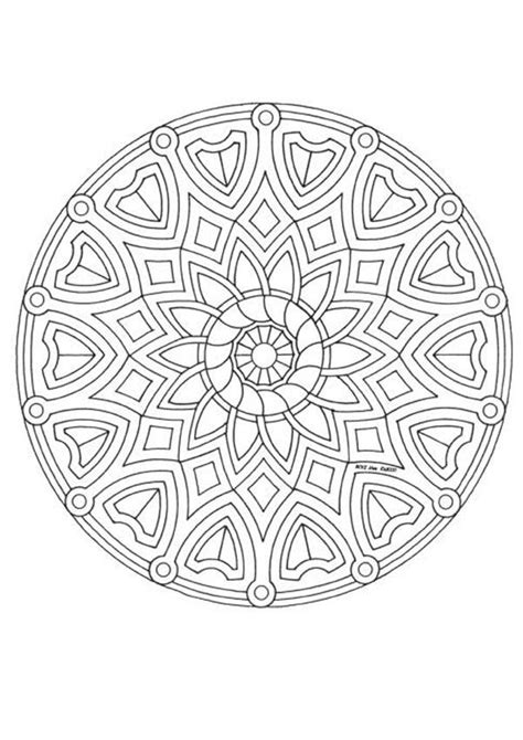coloriage mandala gratuit hugo l'escargot