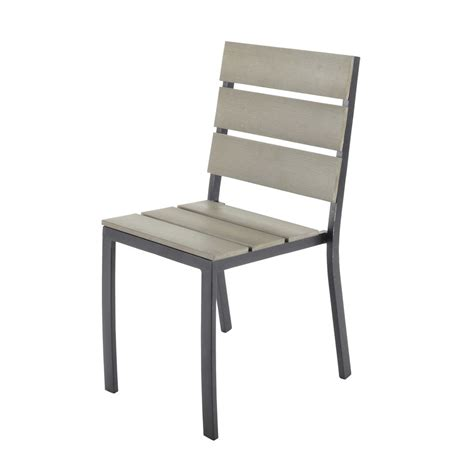 chaise de jardin aluminium chaise de jardin en aluminium escale maisons du monde