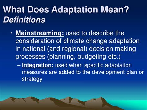 What Is L Development by Ppt Mainstreaming Adaptation Into National Development