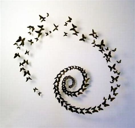 Paper Craft For Wall Decoration - handmade butterflies decorations on walls paper craft ideas