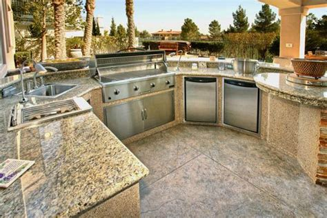 outdoor kitchen countertops ideas granite countertops for outdoor kitchen for the big