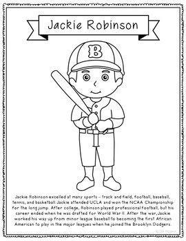 coloring page for jackie robinson jackie robinson biography coloring page craft african