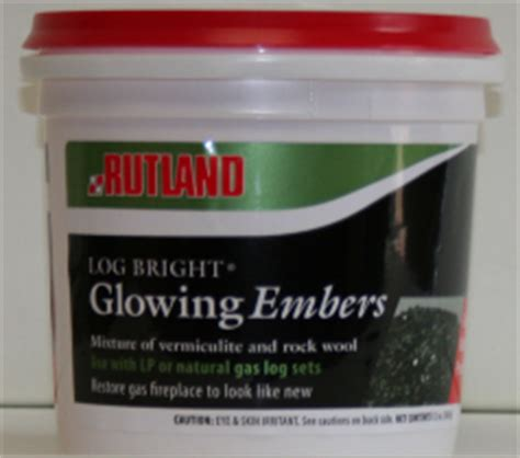 rutland log bright replacement glowing embers for gas logs
