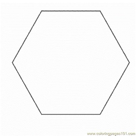 Shape Hexagon Coloring Pages 7 Com Coloring Page Free Hexagon Coloring Page