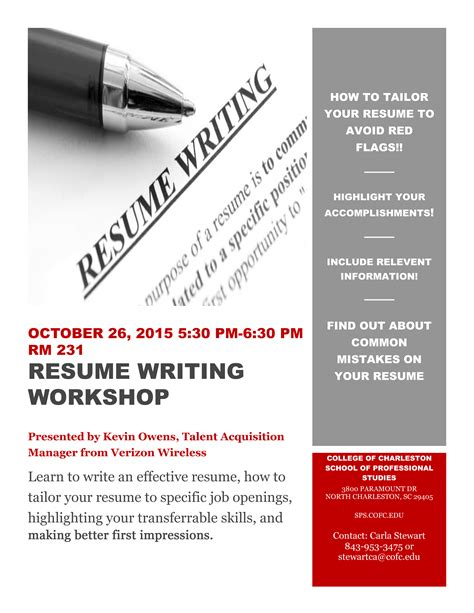 resume writing workshop