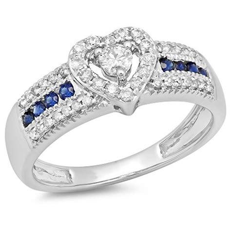 10k gold cut blue sapphire white