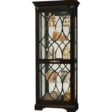 Distressed Curio Cabinet howard miller roslyn curio cabinet in distressed worn