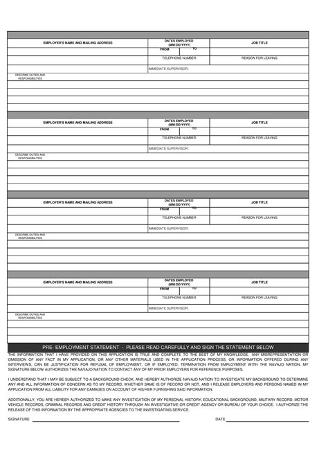 pour will form simple employment application form pdf excel