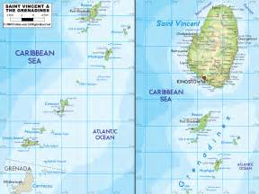 map st vincent and the grenadines st vincent and grenadines map mappery