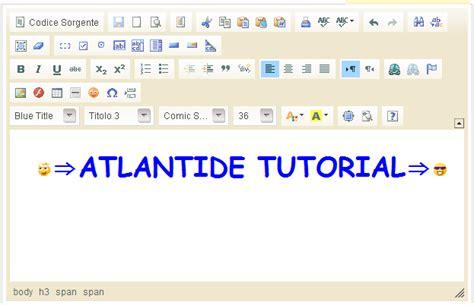 tutorial web editor atlantide tutorial html editor online i siti migliori