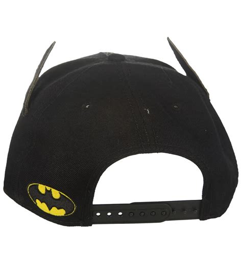official black dc comics batman baseball cap with ears ebay