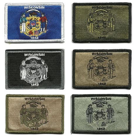 state tactical patches 2 quot x3 quot wisconsin state tactical patch