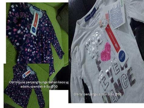 Setelan Kaos Anak Karekter Size 1 6 Thn 5 murah om blouse tangan panjang