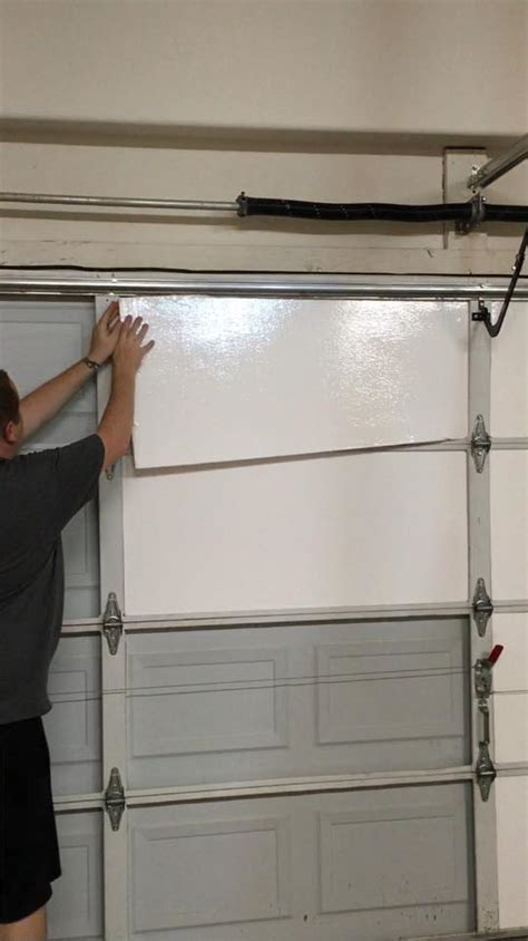 Diy Garage Door Insulation by Insulfoam Diy Garage Door Insulation Installation In