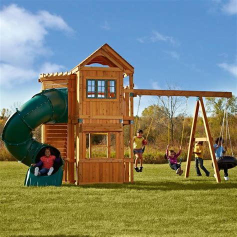outdoor swing sets and playhouses 172 best images about playhouses and playsets on pinterest