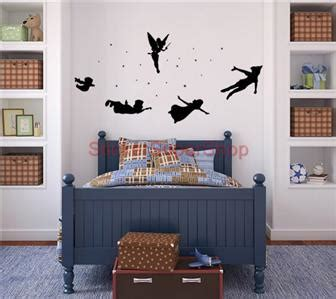 tinkerbell home decor peter pen set silhouette decal removable wall sticker home