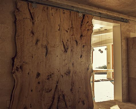 Barn Door Slab Custom Made Live Edge American Elm Slab Barn Door By