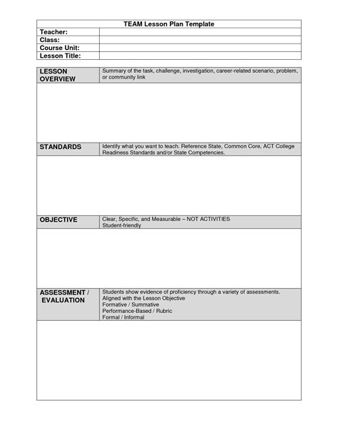 beaufiful madeline hunter lesson plan template images gt gt 8