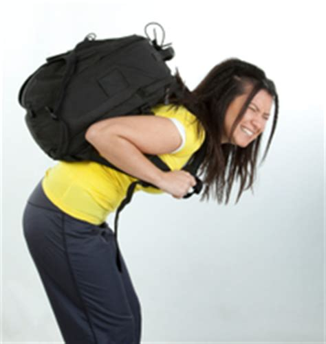 Can wearing a back pack cause a back injury?   Sterling