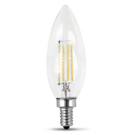 Led Light Bulbs Candelabra Feit Electric 40 Watt Equivalent Daylight B10 Dimmable Clear Filament Led Candelabra Base Light