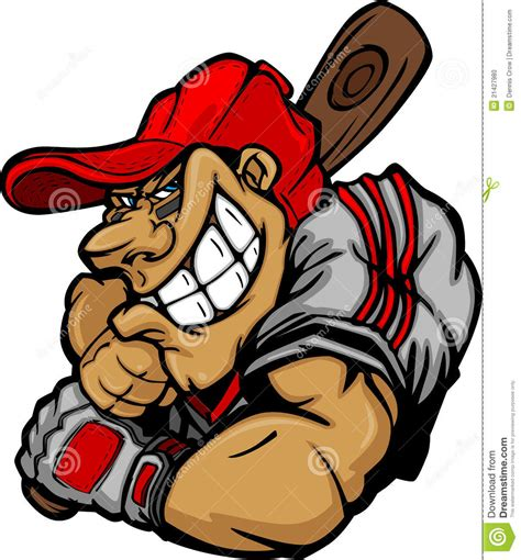 design photo cartoon cartoon baseball player batting design stock vector