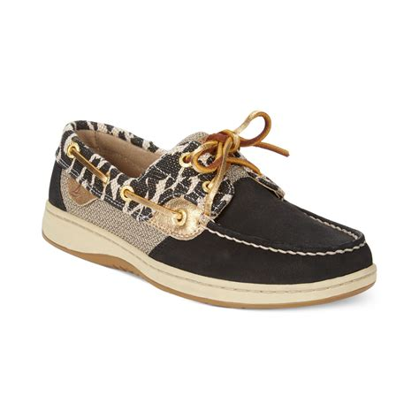 sperry top sider s bluefish boat shoes in black