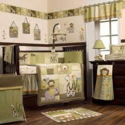 Safari Crib Bedding Sets Safari Jungle Animals Green And Brown Nursery 8pc Baby Boy Crib Bedding Set Ebay