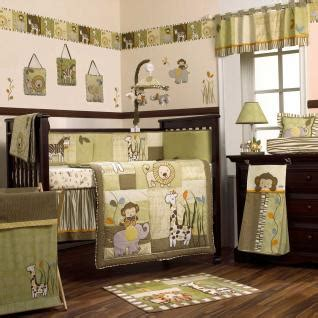 Safari Nursery Bedding Sets Safari Jungle Animals Green And Brown Nursery 8pc Baby Boy Crib Bedding Set Ebay