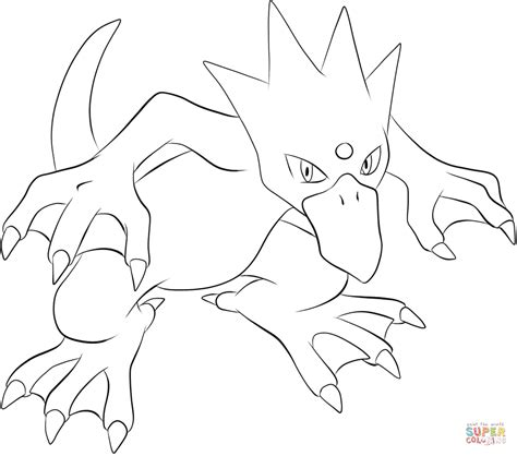 pokemon coloring pages golduck golduck coloring page free printable coloring pages