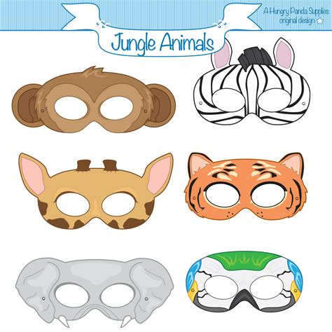 printable animal eye masks jungle craft ideas and printables google search jungle