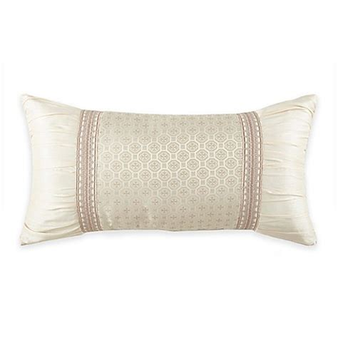 bed bath and beyond waterford waterford 174 linens castlequin oblong throw pillow bed
