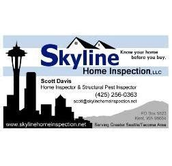 skyline home inspection llc kent wa 98030 homeadvisor