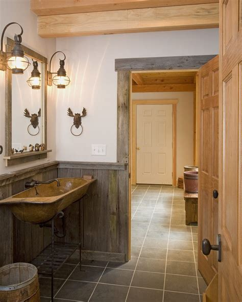 Rustic wainscoting ideas bathroom rustic with reclaimed