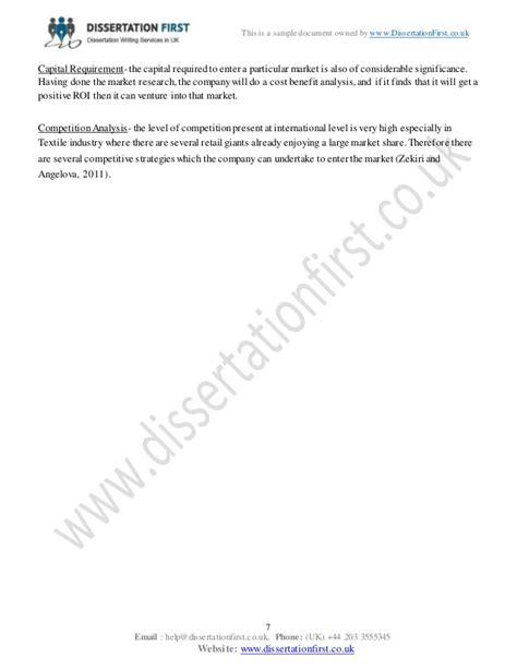 international marketing dissertation dissertation international marketing management sle