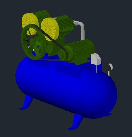 air compressor  dwg model  autocad designs cad