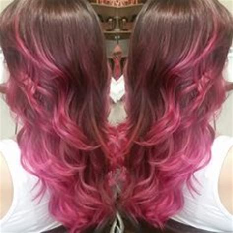 recall pravana hair color beautiful blonde hilighted balayage with wild orchid and