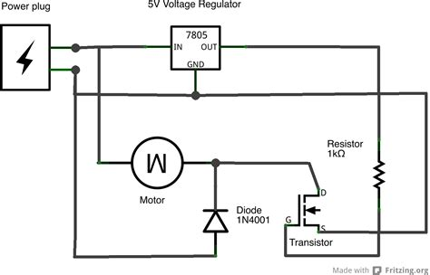 transistor how to use load physical computing at itp tutorials using a transistor to a high current load