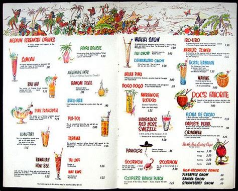 menu for cocktail for 50 cocktail menu from doc s place town country toronto