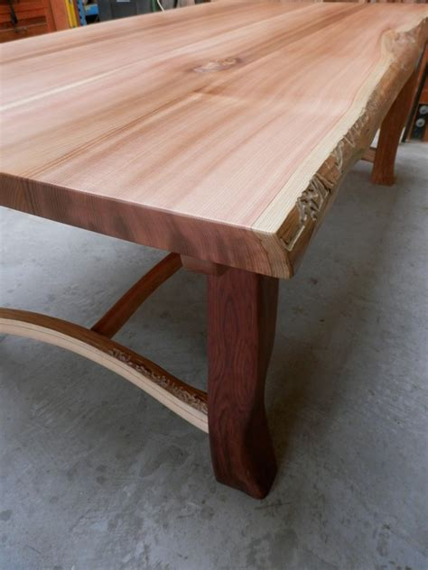 Cedar Dining Table Growth Cedar Dining Table Cedar Sustainable Woodwork