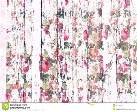 Wallpaper Bunga Floral Flower Shabby Chic Vintage Rustic 210602 shabby wood grain texture white washed with distressed roses pattern stock photo image of pink
