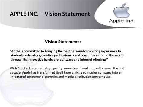 apple vision apple inc explore apple s successful business ppt video