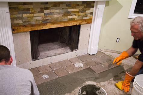 Quartz Ledgestone Fireplace by Fireplace Refaced