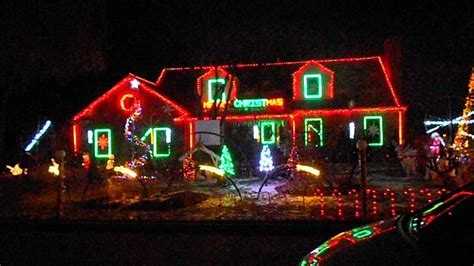 christmas lights on house with music christmas lights music house youtube