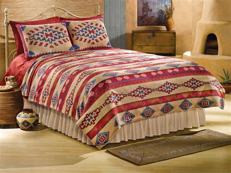 aztec print comforter southwest theme home decor aztec print coverlet bedding sz