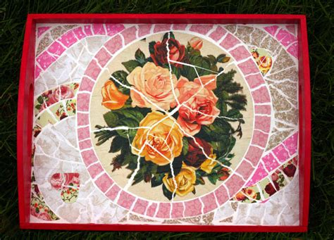 How To Make Paper Mosaic - paper mosaic tray think crafts by createforless