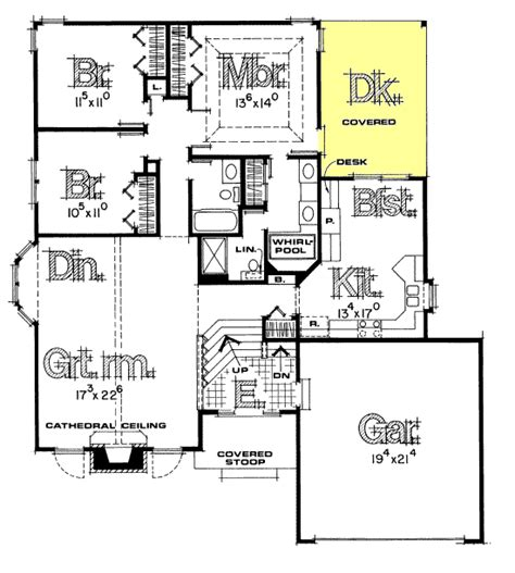 home plans design basics split foyer house plans house plan w3490 detail from
