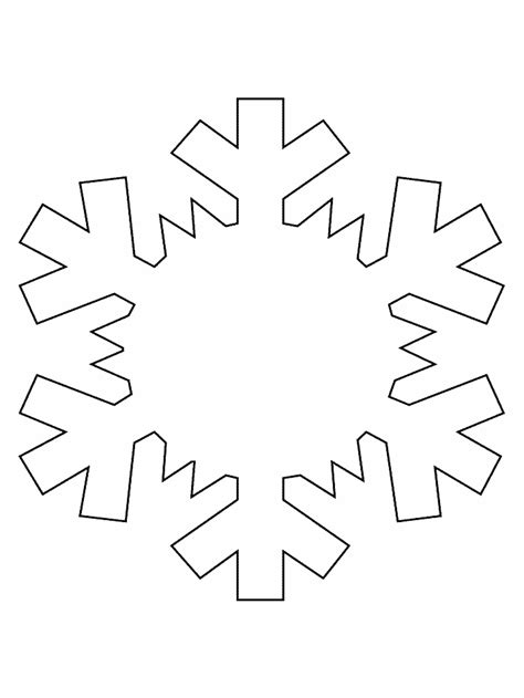 Printable Snowflake Coloring Pages snowflake coloring pages coloring pages to print
