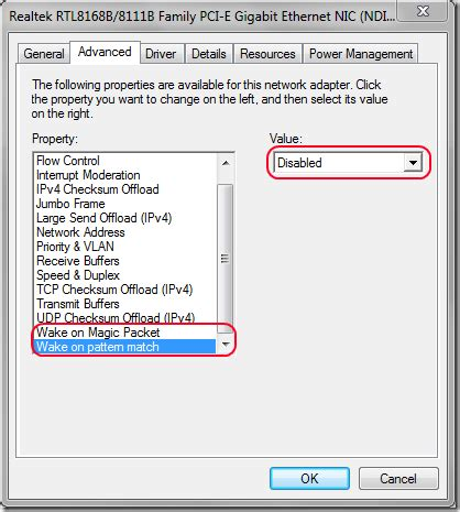 wake up pattern match wake on lan prevents sleep mode in windows 7 super user