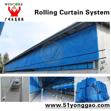 rolling curtain poultry house curtain rolling curtain system for chicken