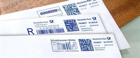 Deutsche Post Aufkleber Drucken by Frankit Deutsche Post Frankiermaschine